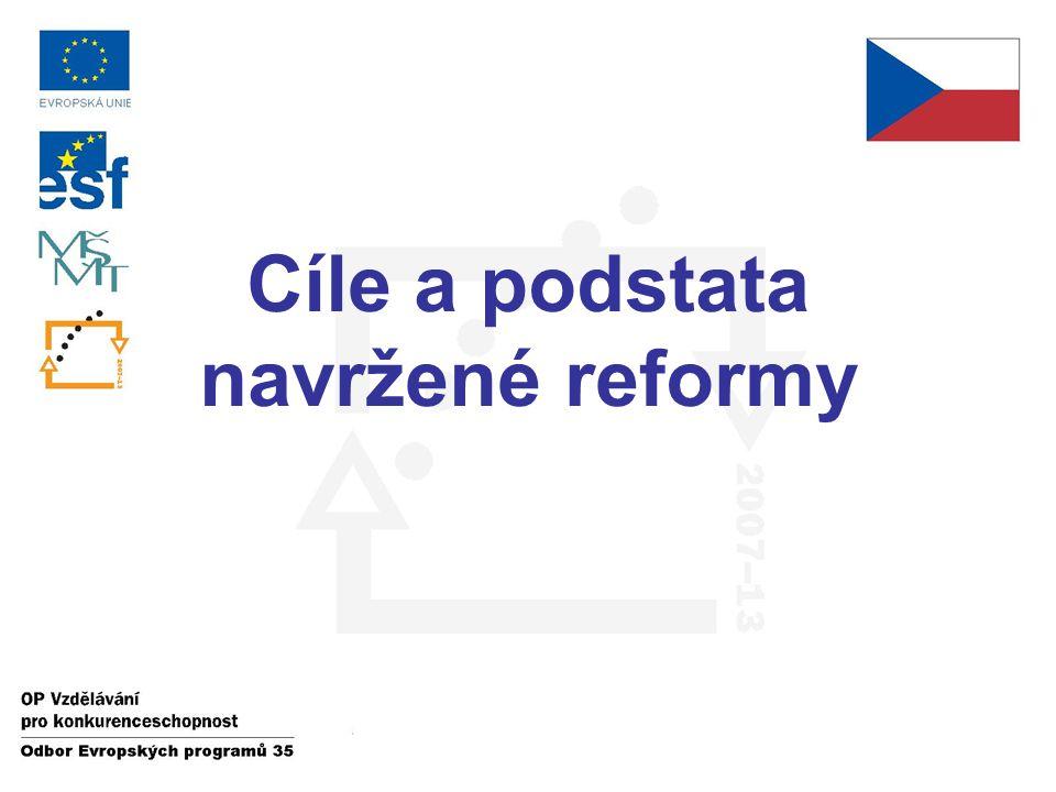 Cíle a podstata navržené reformy