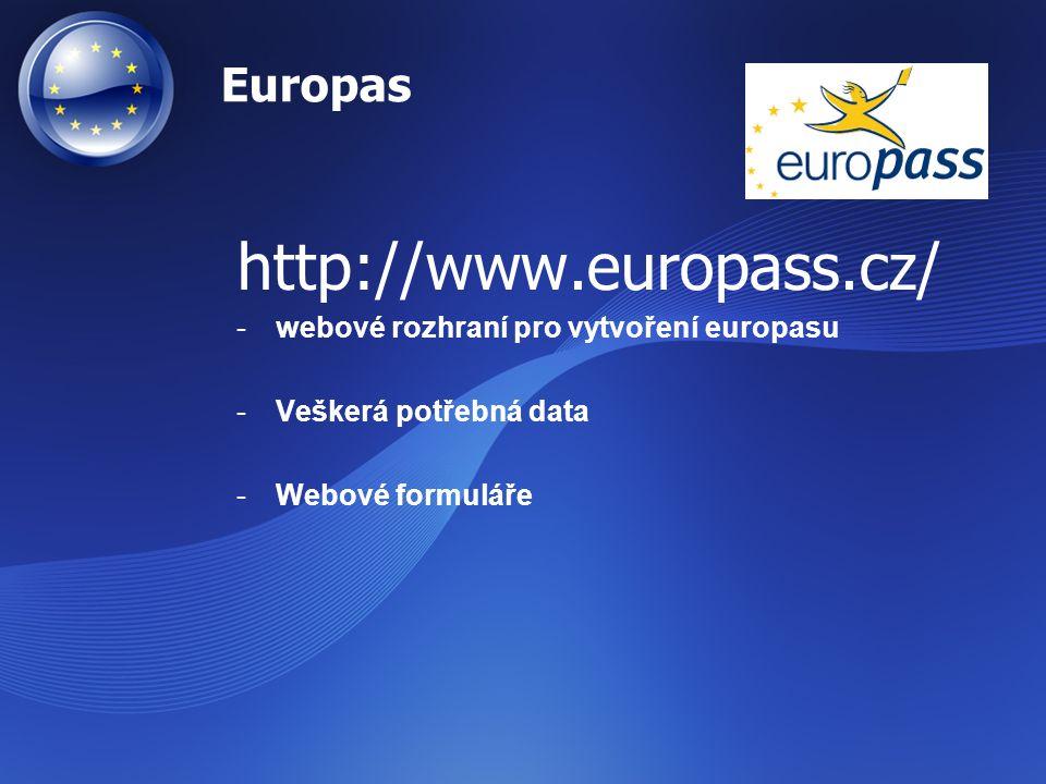 Národní centrum Europass –V každé zemi –koordinuje všechny aktivity dokumentů Europassu –první kontaktní místo pro kohokoli (jednotlivce i organizaci), Informace o Europassu