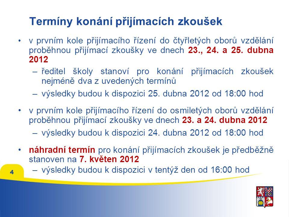 """Přijímací zkoušky nanečisto přijímací zkoušky nanečisto pro uchazeče proběhnou na středních školách v březnu 2012, přesný termín stanoví ředitel školy testy v rámci přijímacích zkoušek nanečisto budou mít stejnou časovou dotaci a stejný počet otázek jako """"ostré přijímací zkoušky CENA: trojice testů OSP, M a ČJ – 100 Kč nebo 130 Kč test OSP – 60 Kč nebo 50 Kč 5"""
