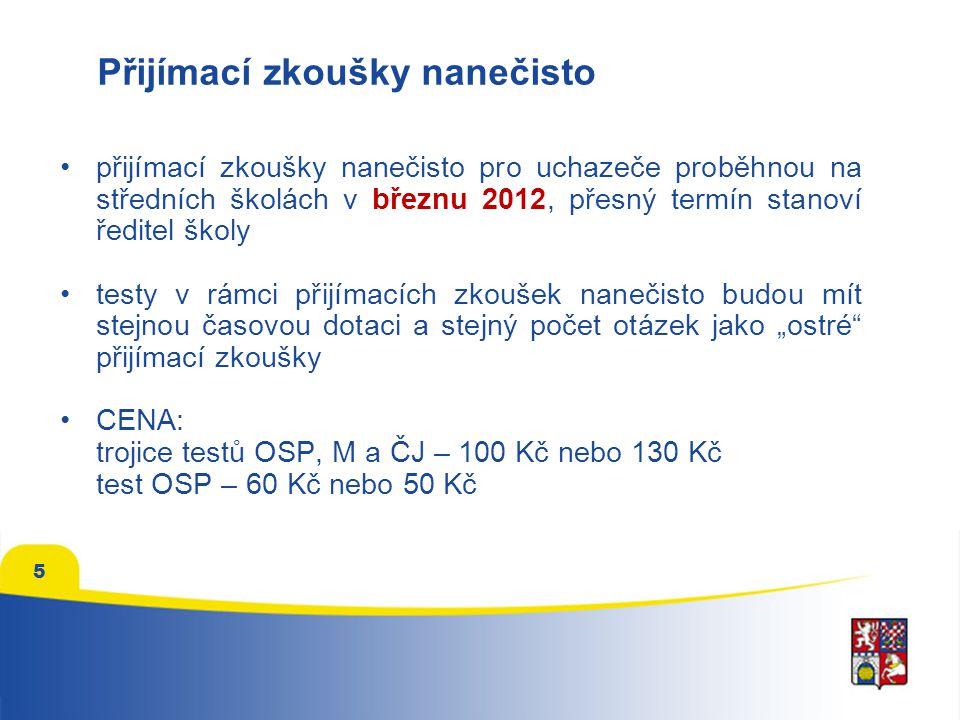 Hodnocení uchazečů ve všech kolech přijímacího řízení Obor vzdělání Gymnázium, čtyřleté studium 1.