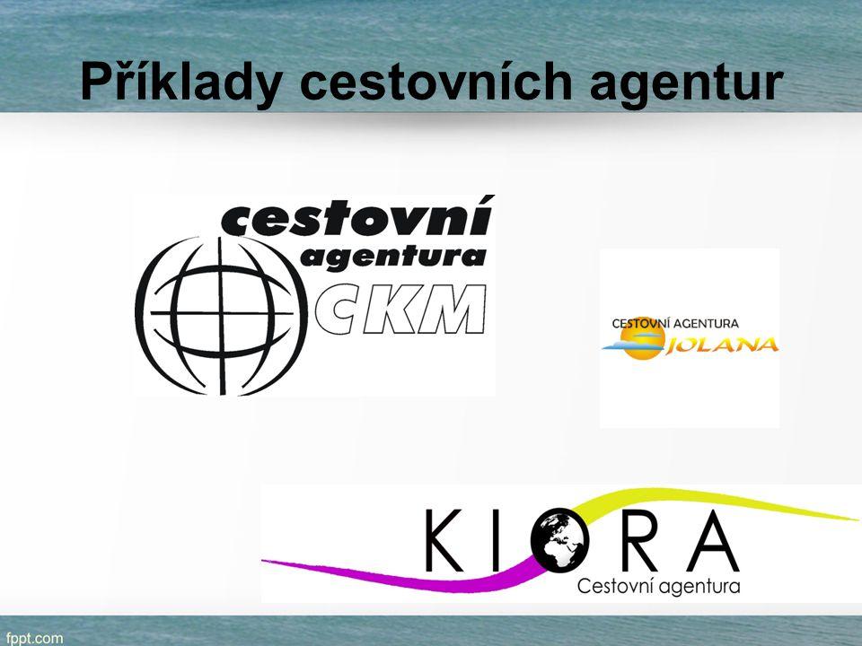 Příklady cestovních agentur
