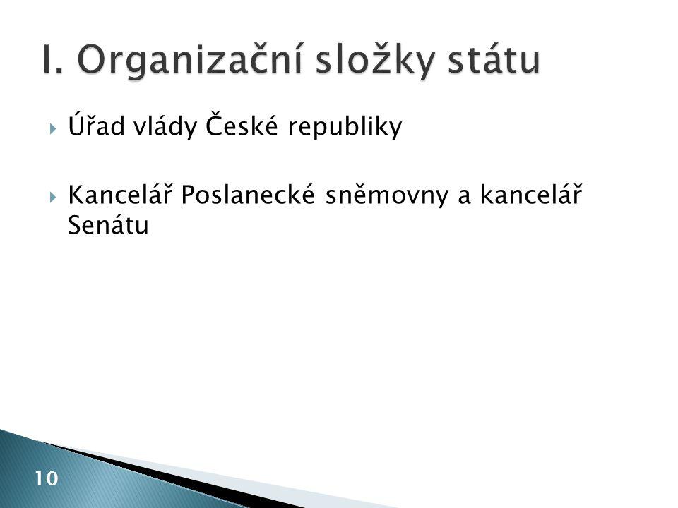  Úřad vlády České republiky  Kancelář Poslanecké sněmovny a kancelář Senátu 10