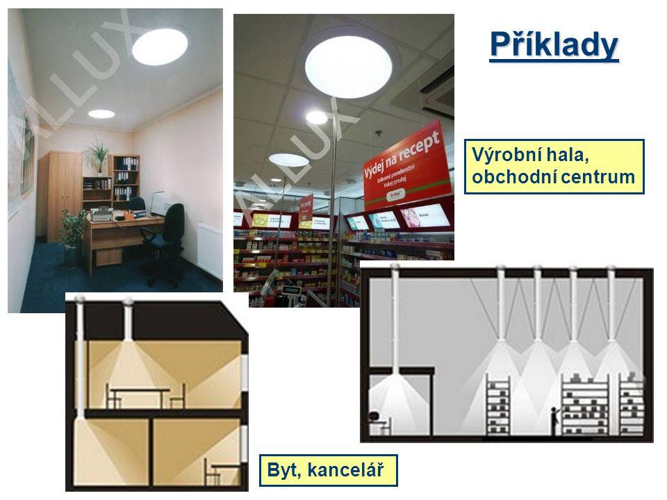 Příklady Byt, kancelář Výrobní hala, obchodní centrum