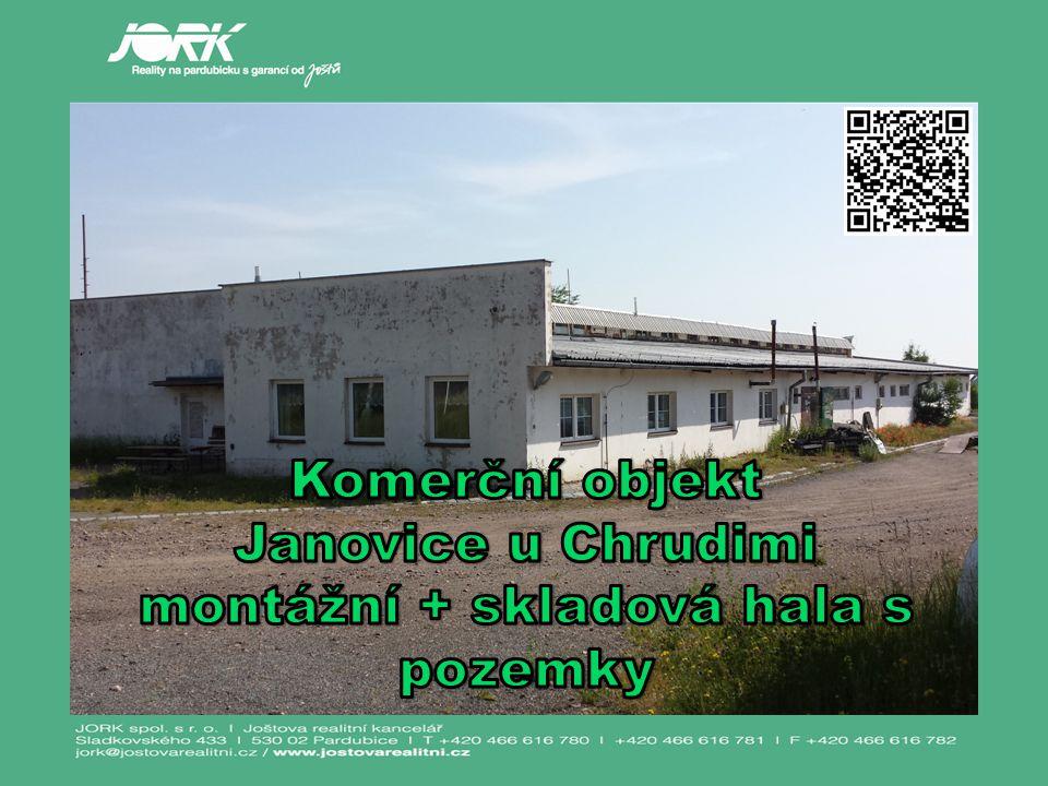 Komerční areál v Janovicích na Chrudimsku se nachází na okraji obce Morašice, části obce Janovice přibližně 7 km od Chrudimi.