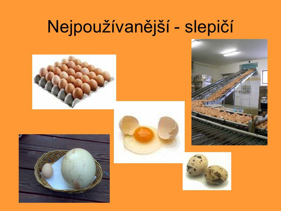 Další druhy vajec >>> Křepelčí vejce Často se tvrdí, že mají méně cholesterolu.