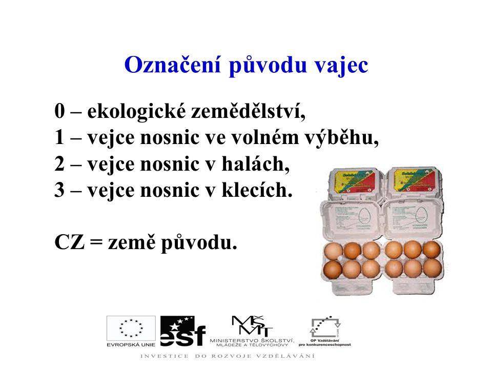 Charakteristika Vejce patří mezi potraviny s velkou výživovou hodnotou. V ČR se využívají převážně vejce slepičí ze zdravých, veterinárně kontrolovaný