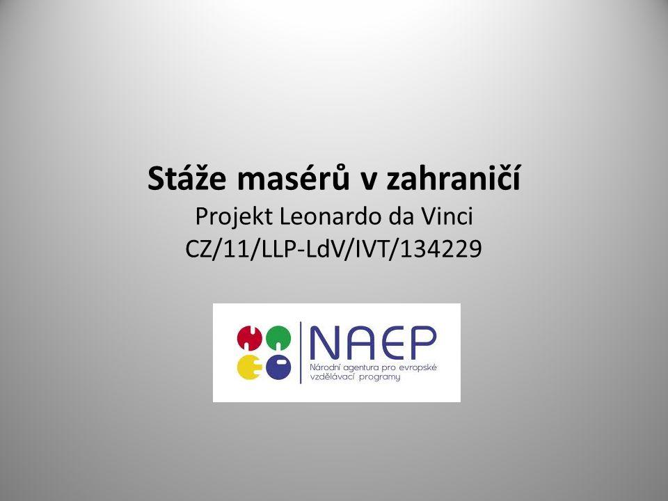 Stáže masérů v zahraničí Projekt Leonardo da Vinci CZ/11/LLP-LdV/IVT/134229