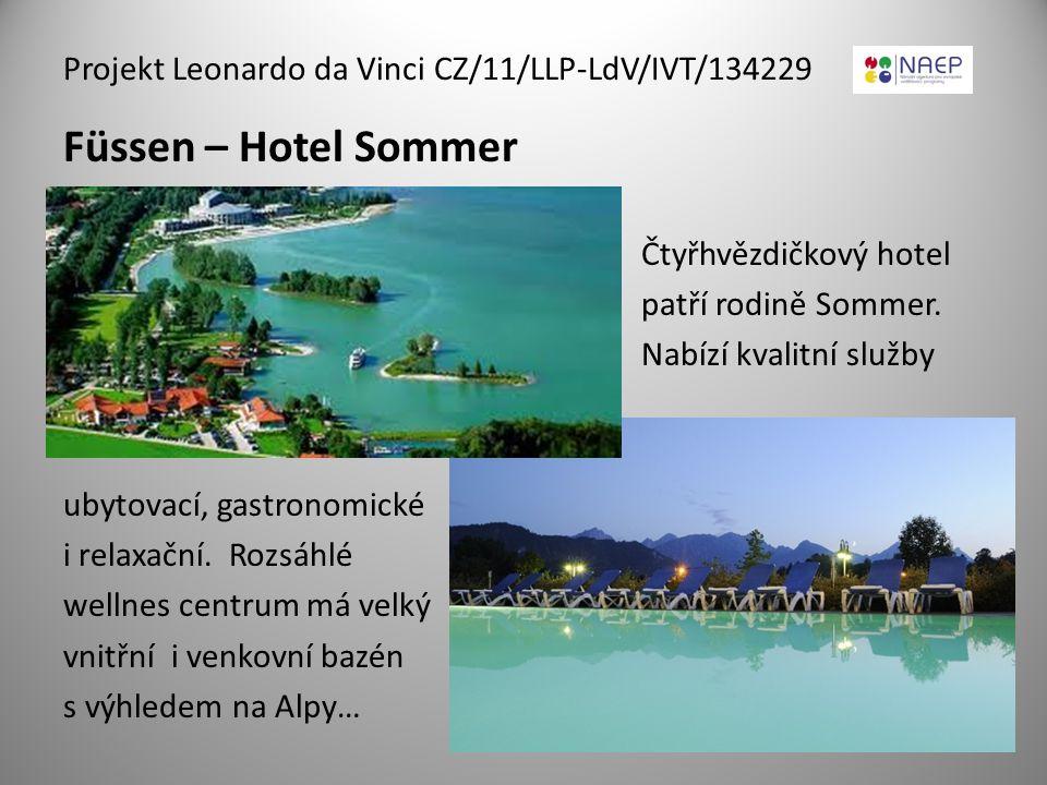 Füssen – Hotel Sommer Čtyřhvězdičkový hotel patří rodině Sommer. Nabízí kvalitní služby ubytovací, gastronomické i relaxační. Rozsáhlé wellnes centrum