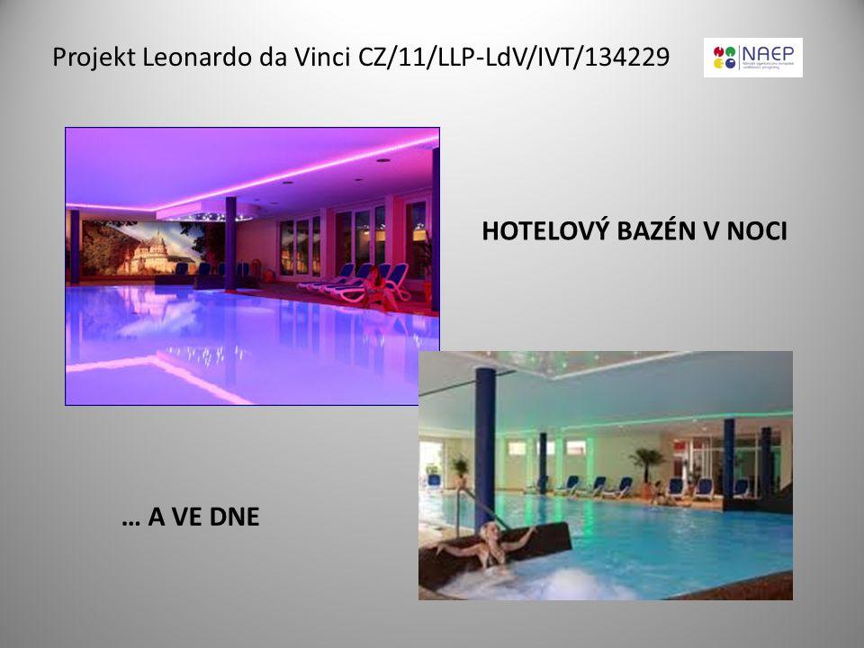 Projekt Leonardo da Vinci CZ/11/LLP-LdV/IVT/134229 HOTELOVÝ BAZÉN V NOCI … A VE DNE
