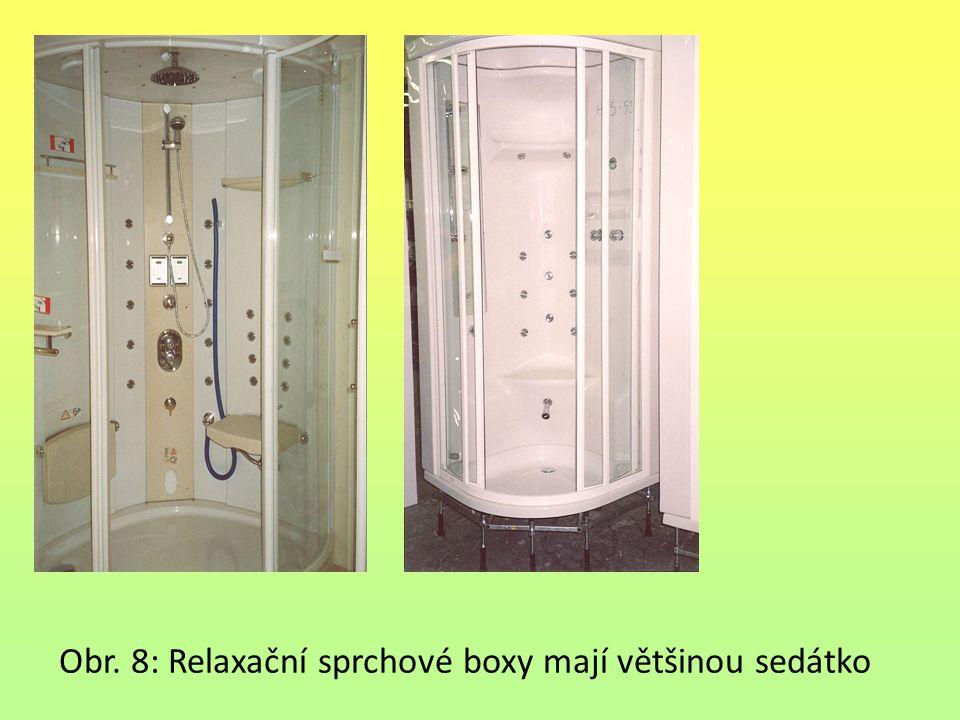 Obr. 8: Relaxační sprchové boxy mají většinou sedátko