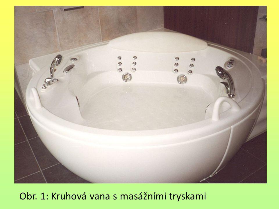 Obr. 1: Kruhová vana s masážními tryskami