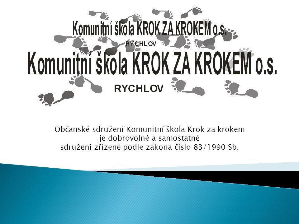 Občanské sdružení Komunitní škola Krok za krokem je dobrovolné a samostatné sdružení zřízené podle zákona číslo 83/1990 Sb.