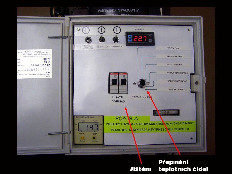 Jištění Přepínání teplotních čidel