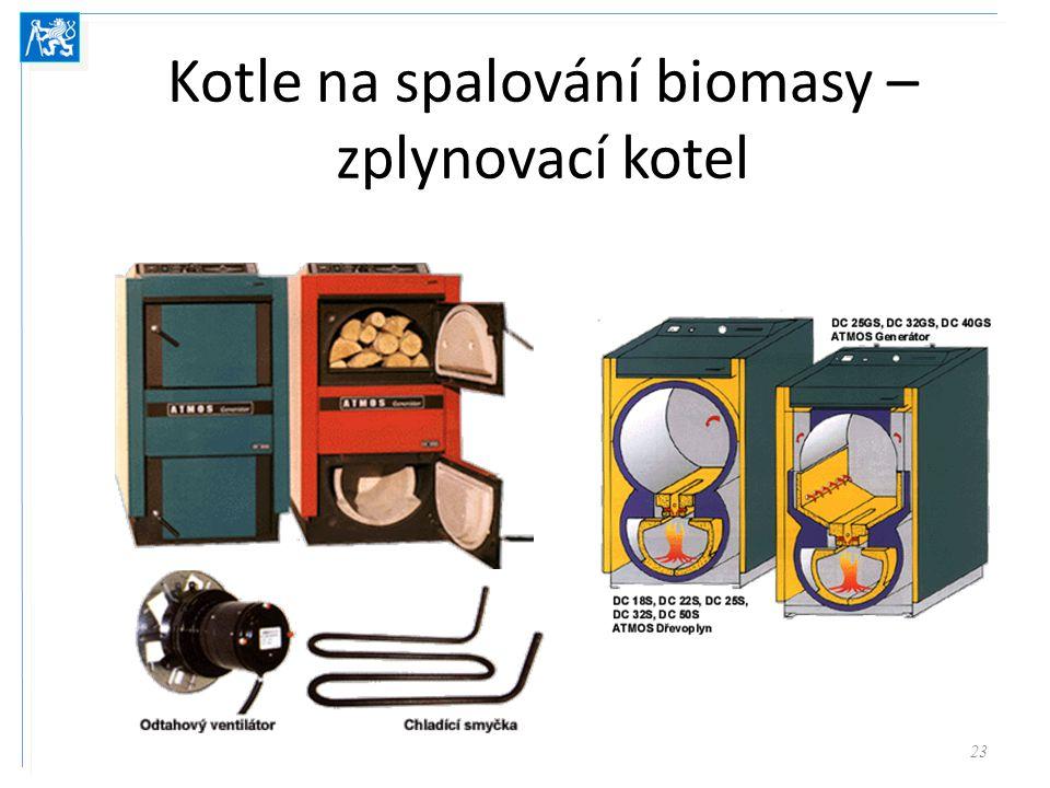 Kotel na peletky = kotel na zplynování dřeva + zásobník paliva + dopravník 24