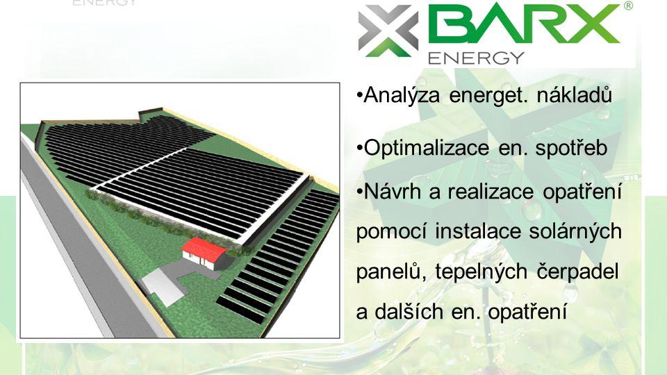 Analýza energet. nákladů Optimalizace en.