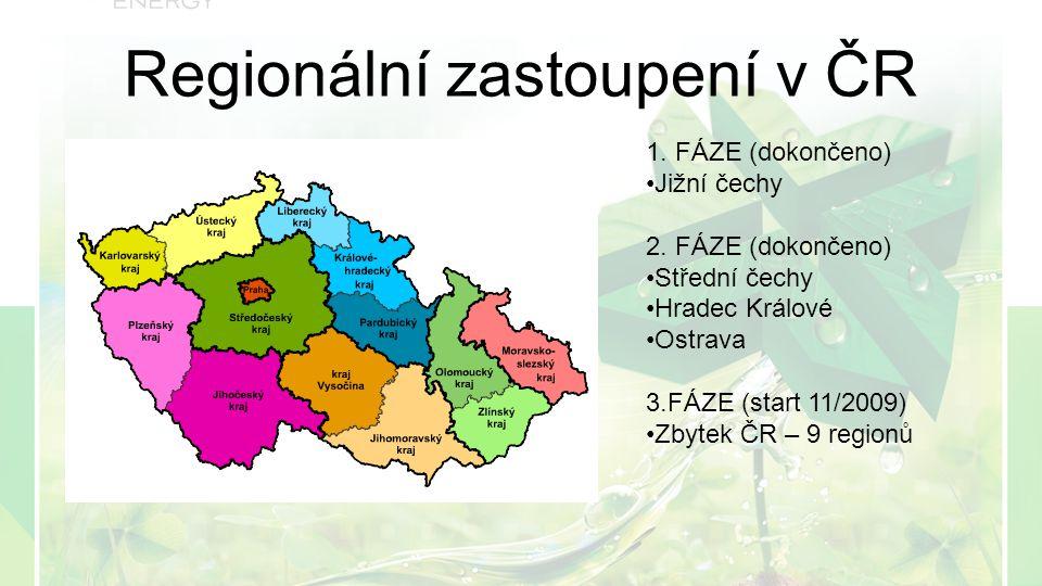 Regionální zastoupení v ČR 1. FÁZE (dokončeno) Jižní čechy 2.