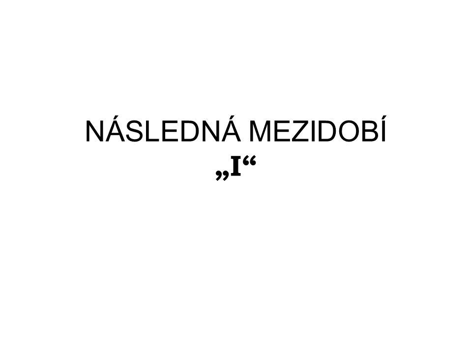 """NÁSLEDNÁ MEZIDOBÍ """"I"""""""