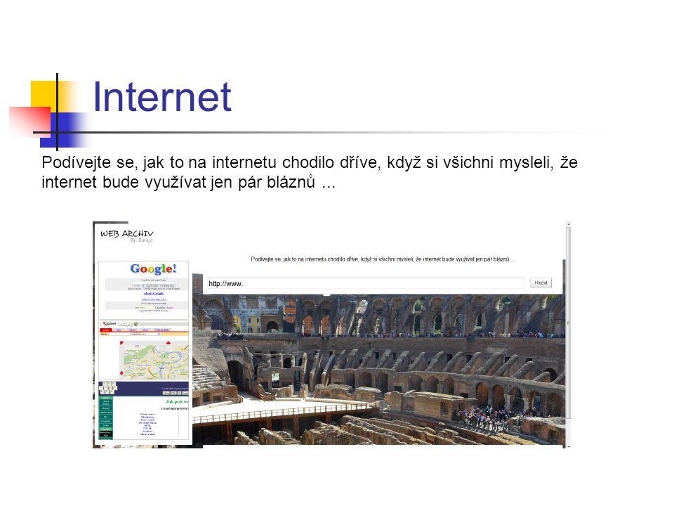 Internet Podívejte se, jak to na internetu chodilo dříve, když si všichni mysleli, že internet bude využívat jen pár bláznů...
