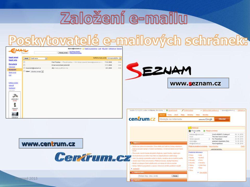 www.centrum.cz www.seznam.cz listopad 2013