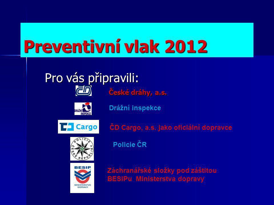 Preventivní vlak 2012 Pro vás připravili: České dráhy, a.s.
