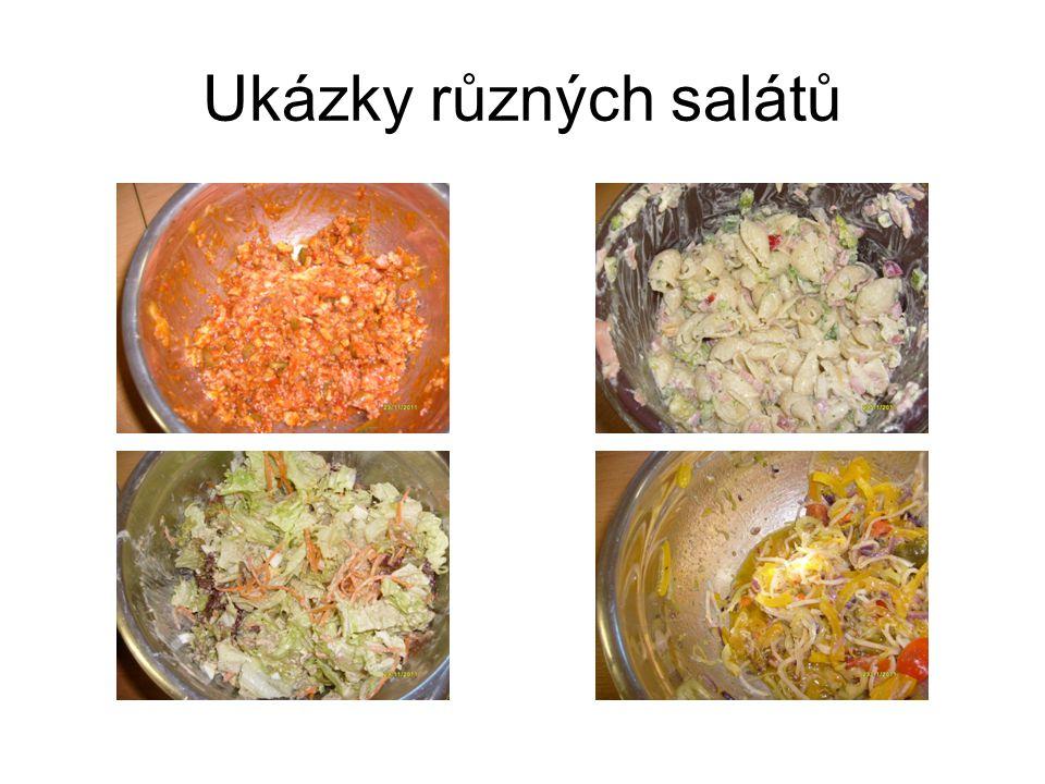 Ukázky různých salátů