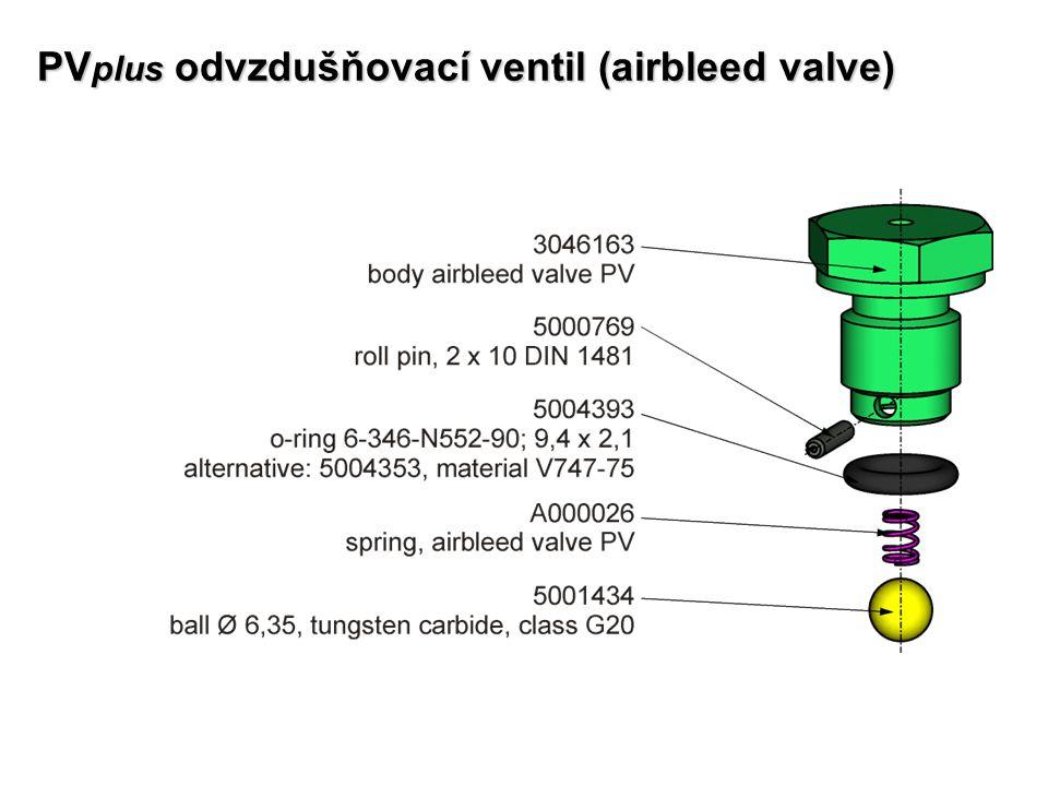 PV plus odvzdušňovací ventil (airbleed valve)