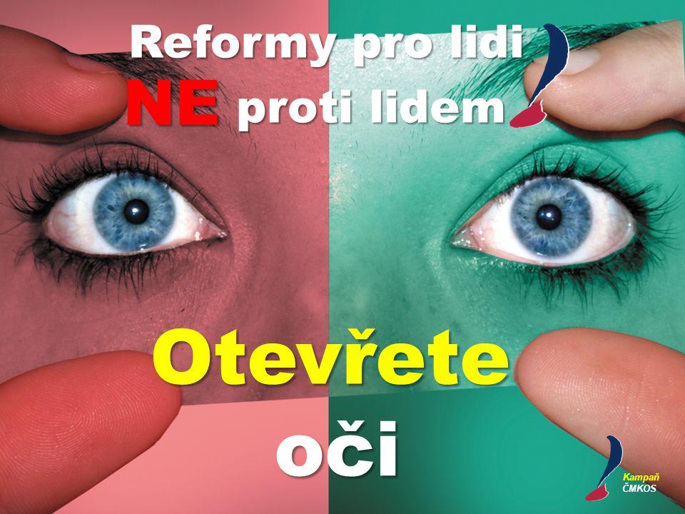 Otevřete oči Reformy pro lidi NE proti lidem Kampaň ČMKOS