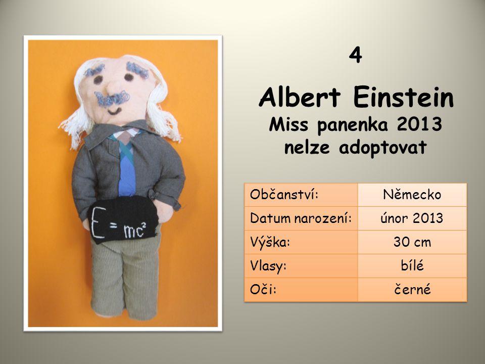 Albert Einstein Miss panenka 2013 nelze adoptovat 4