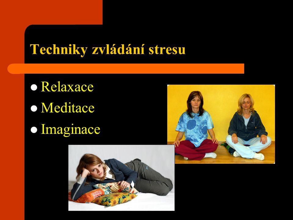 Techniky zvládání stresu Relaxace Meditace Imaginace