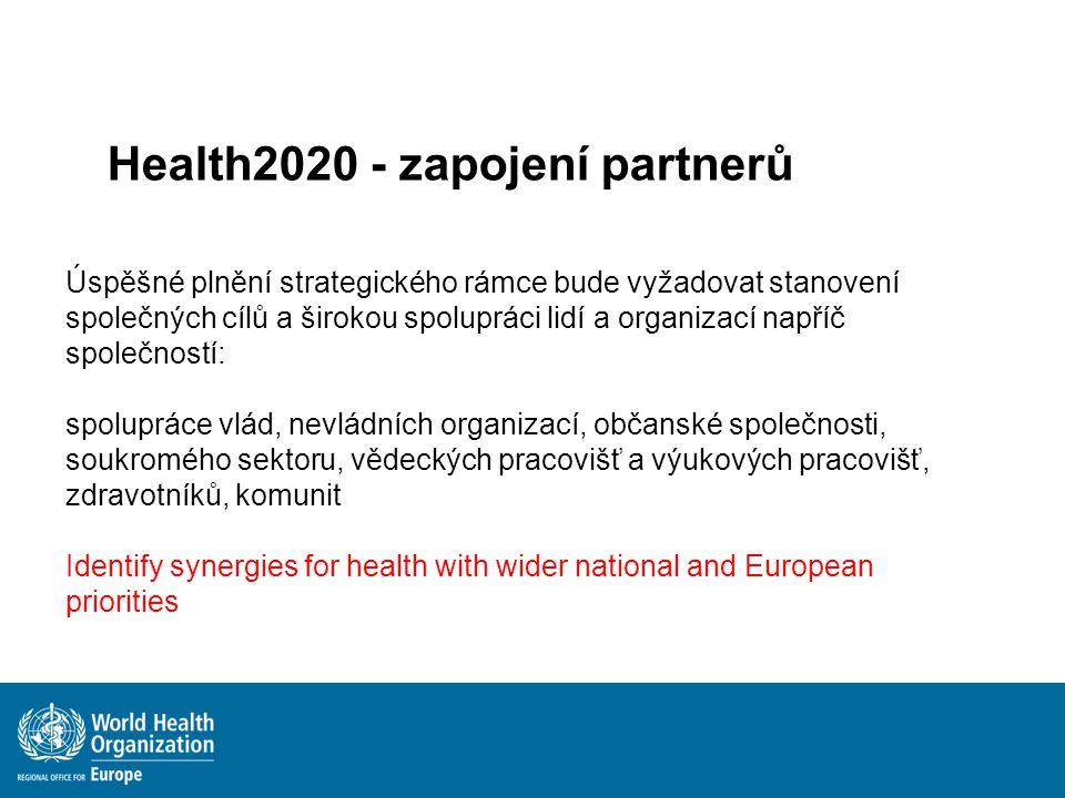 Úspěšné plnění strategického rámce bude vyžadovat stanovení společných cílů a širokou spolupráci lidí a organizací napříč společností: spolupráce vlád