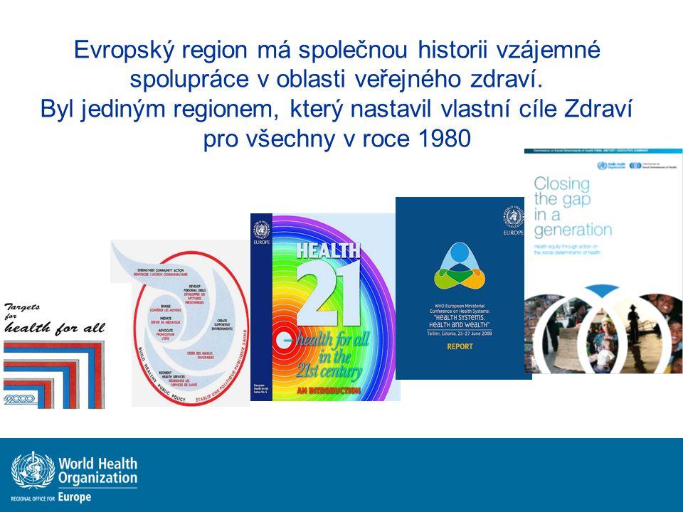 Evropský region má společnou historii vzájemné spolupráce v oblasti veřejného zdraví. Byl jediným regionem, který nastavil vlastní cíle Zdraví pro vše