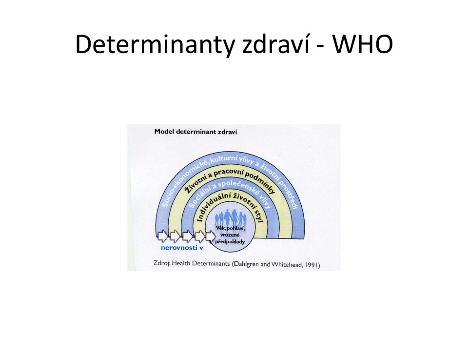 Determinanty zdraví - WHO