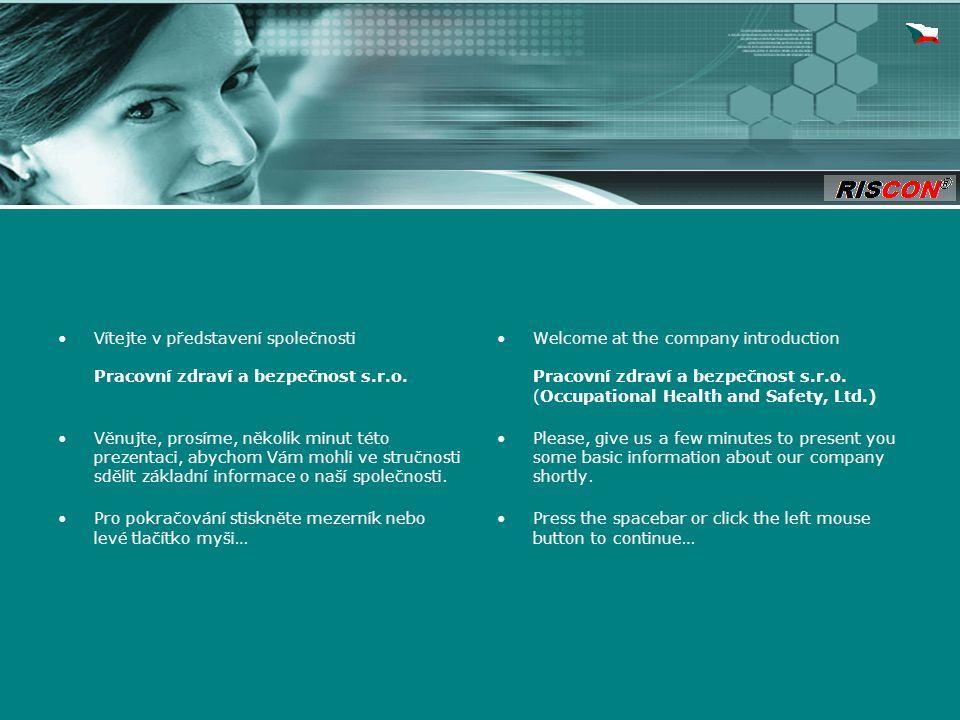 Vítejte v představení společnosti Pracovní zdraví a bezpečnost s.r.o.