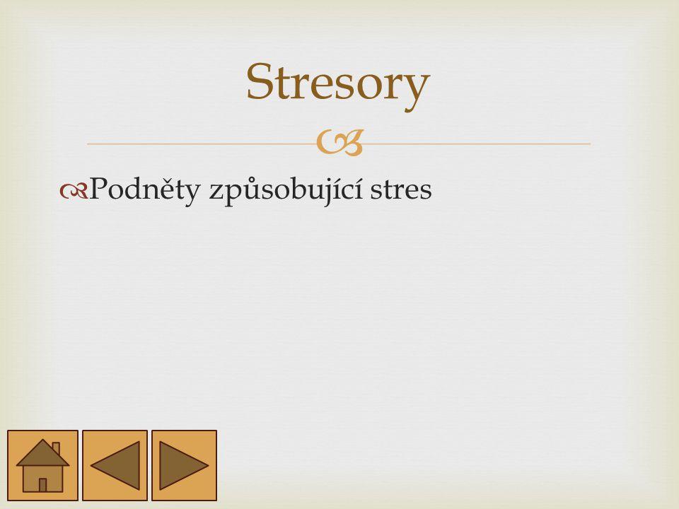  Podněty způsobující stres Stresory
