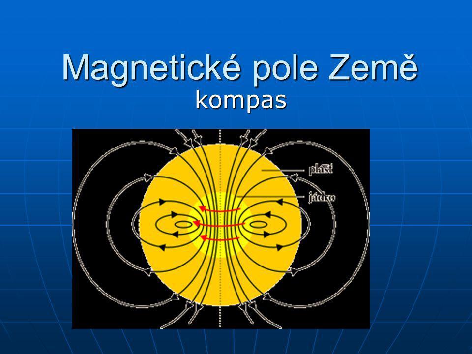 Z historie První užití magnetů souviselo s potřebou orientace ve stepích a pouštích (před 4 600 lety) První užití magnetů souviselo s potřebou orientace ve stepích a pouštích (před 4 600 lety) Později se kompasy využívaly i při mořeplavbě Později se kompasy využívaly i při mořeplavbě Vysvětlení jejich činnosti však bylo zahaleno tajemstvím Vysvětlení jejich činnosti však bylo zahaleno tajemstvím