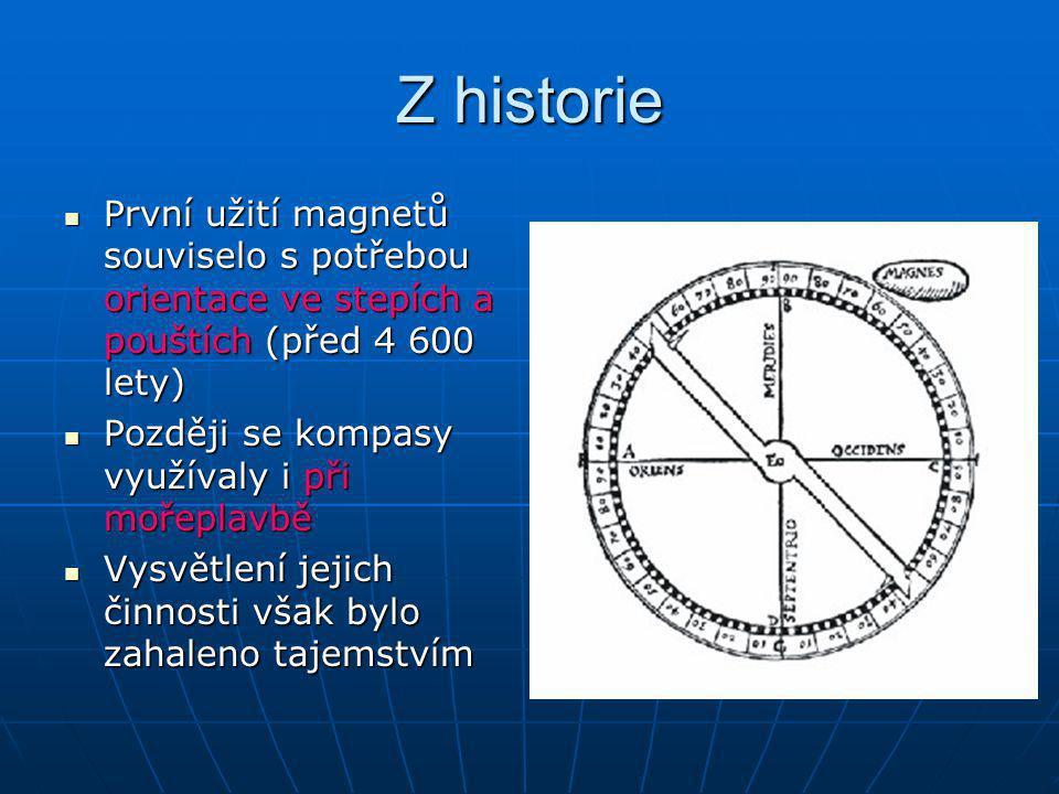 Názory na činnost kompasu Vědci se domnívali, že se magnetická střelka orientuje ke hvězdě Polárce Vědci se domnívali, že se magnetická střelka orientuje ke hvězdě Polárce Jiní si mysleli, že na severu existuje magnetická hora Jiní si mysleli, že na severu existuje magnetická hora Správný výklad funkce podal na konci 13.stolení francouzský učenec Pierre de Maricourt (pjér de marikúr), známý pod jménem PEREGRINUS Správný výklad funkce podal na konci 13.stolení francouzský učenec Pierre de Maricourt (pjér de marikúr), známý pod jménem PEREGRINUS