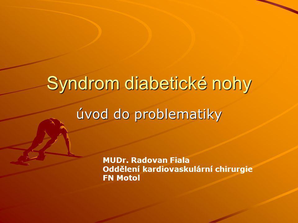 Syndrom diabetické nohy úvod do problematiky MUDr. Radovan Fiala Oddělení kardiovaskulární chirurgie FN Motol