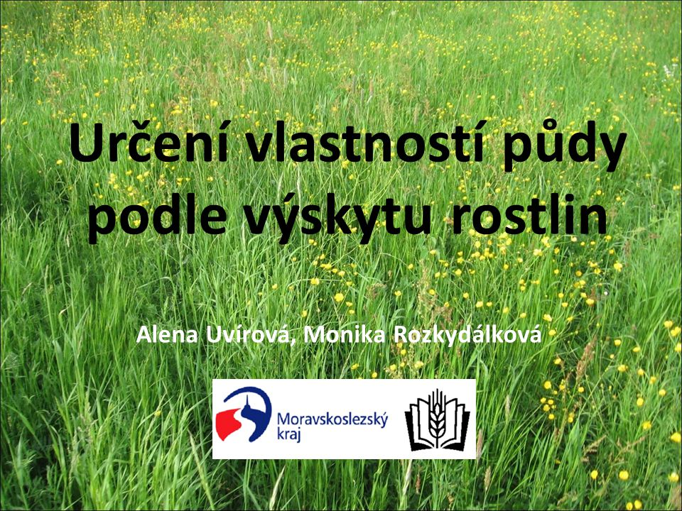 Určení vlastností půdy podle výskytu rostlin Alena Uvírová, Monika Rozkydálková