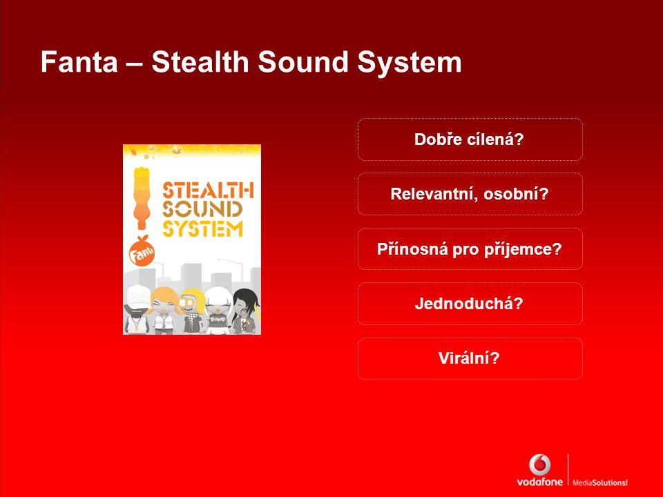 Fanta – Stealth Sound System Dobře cílená. Přínosná pro příjemce.