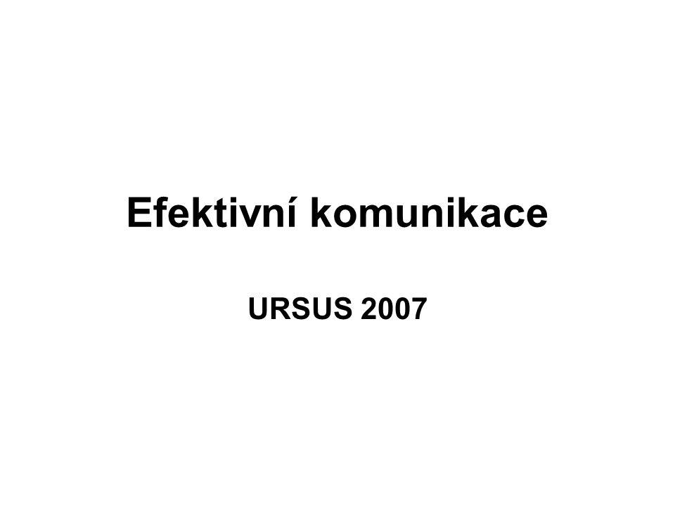 Efektivní komunikace URSUS 2007