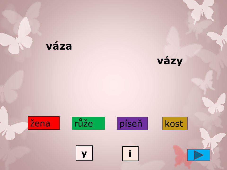 Skloňování podstatných jmen rodu ženského 3 - vzory Český jazyk – Tvarosloví