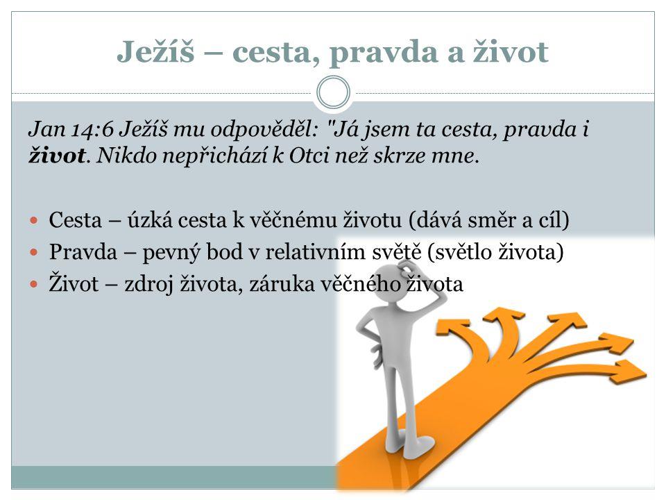 Ježíš – cesta, pravda a život Jan 14:6 Ježíš mu odpověděl: