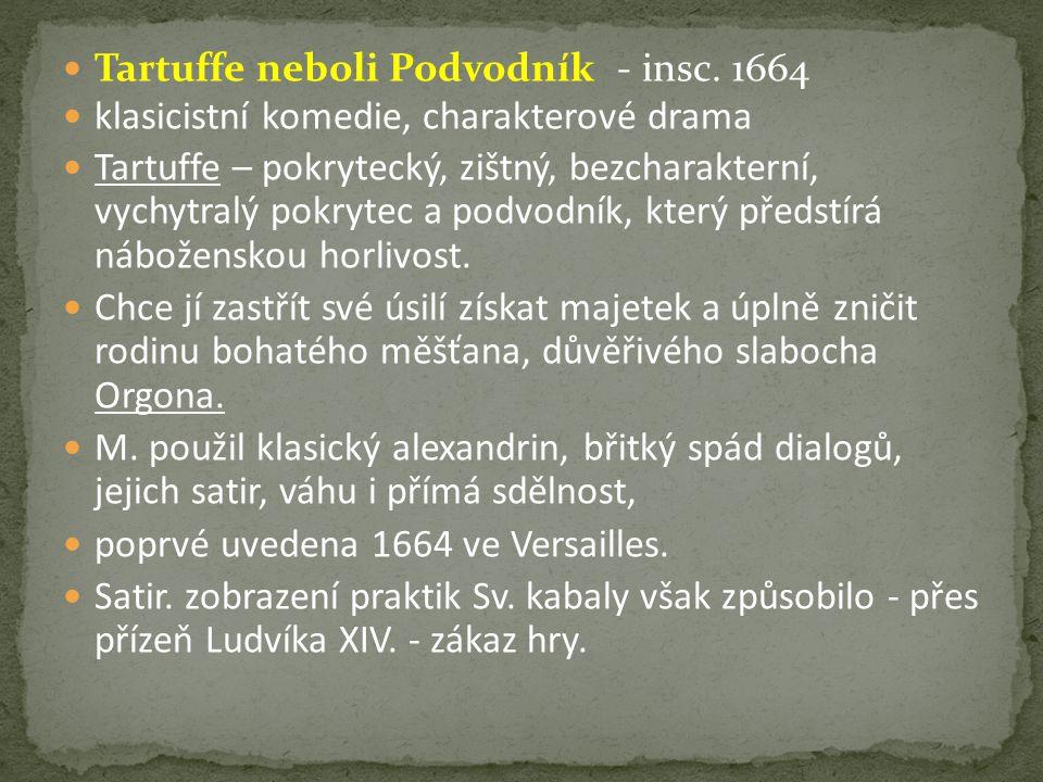 Tartuffe neboli Podvodník - insc.