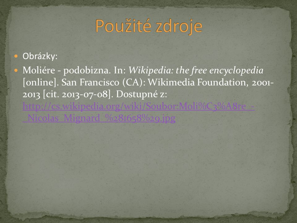 Obrázky: Moliére - podobizna. In: Wikipedia: the free encyclopedia [online].