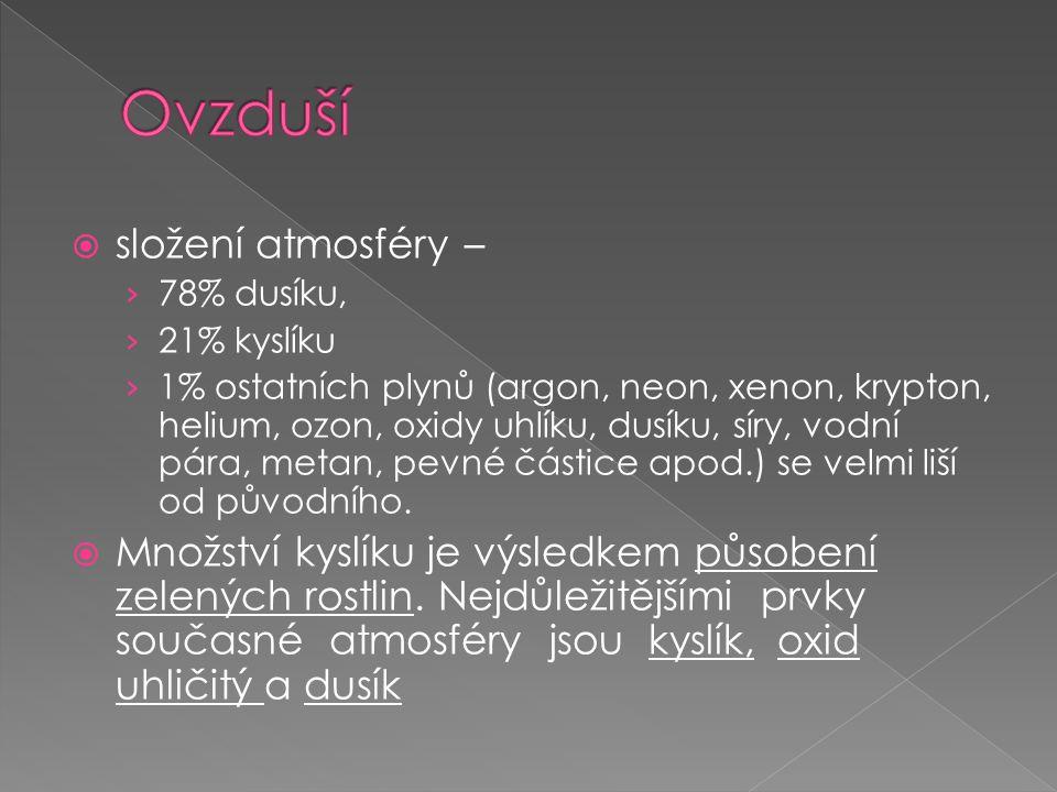  Kyslík je nutný pro dýchání, hoření a při oxidačních procesech.