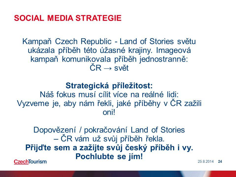 SOCIAL MEDIA STRATEGIE Kampaň Czech Republic - Land of Stories světu ukázala příběh této úžasné krajiny. Imageová kampaň komunikovala příběh jednostra