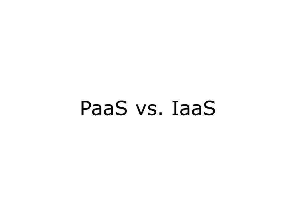 PaaS vs. IaaS