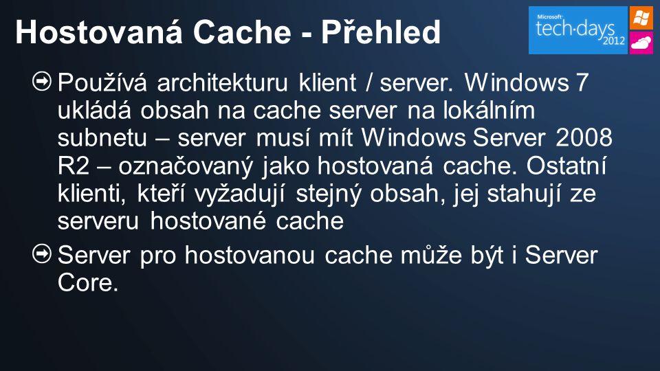 Q: Bude BranchCache pracovat při výpadku WAN.A: Ne.