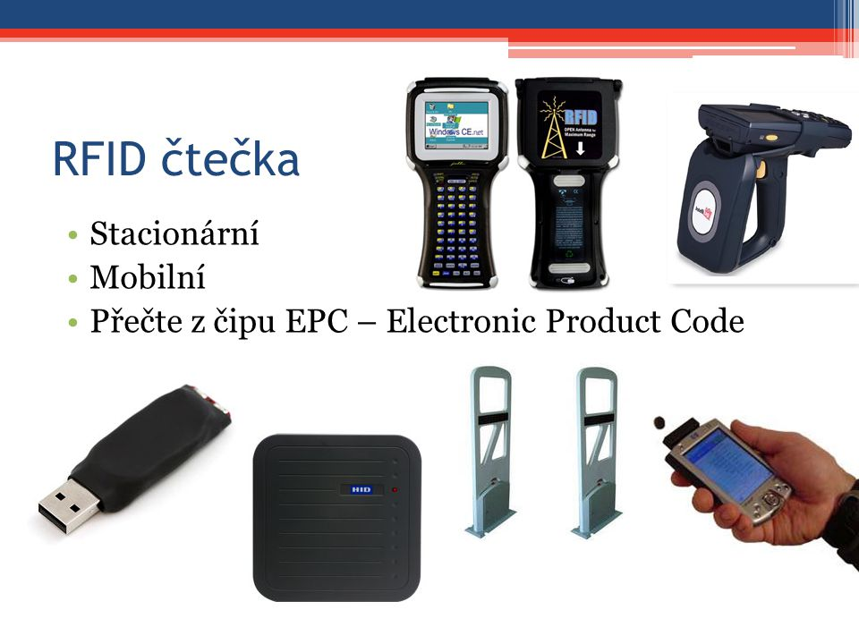 RFID čtečka Stacionární Mobilní Přečte z čipu EPC – Electronic Product Code