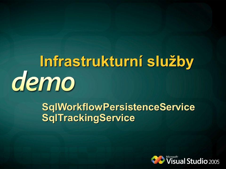 Infrastrukturní služby SqlWorkflowPersistenceServiceSqlTrackingService